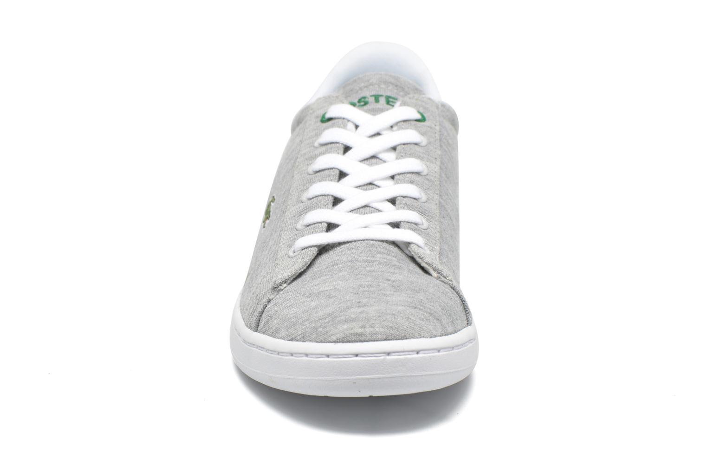Sneaker Lacoste Carnaby EVO 116 2 grau schuhe getragen