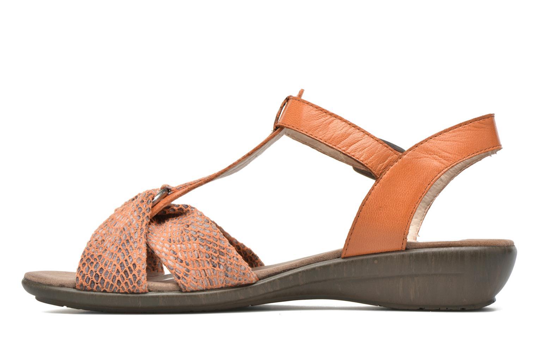 Sandales et nu-pieds Sweet Zoumba Orange vue face