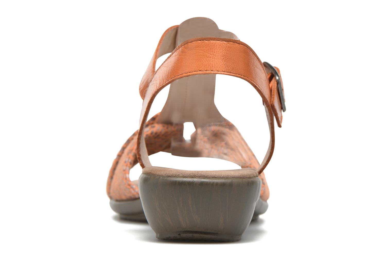 Sandales et nu-pieds Sweet Zoumba Orange vue droite