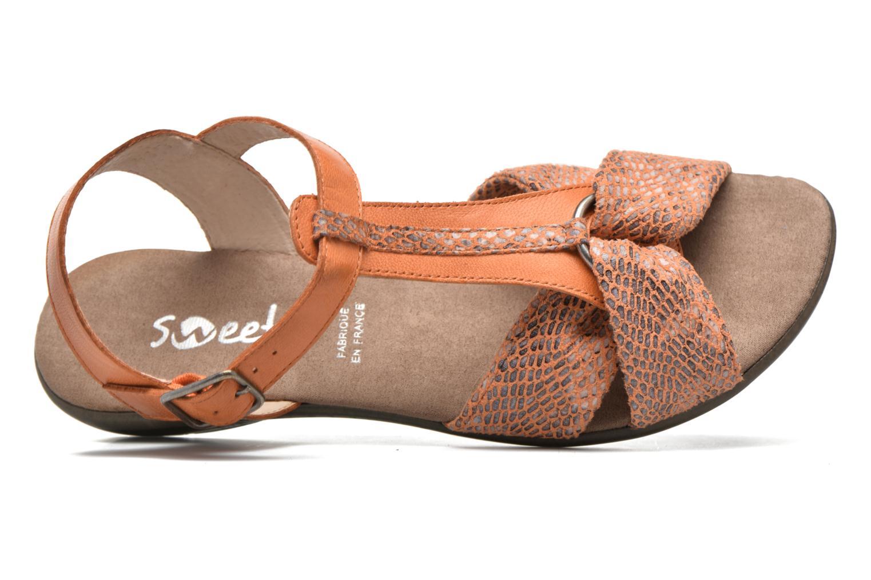 Sandales et nu-pieds Sweet Zoumba Orange vue gauche