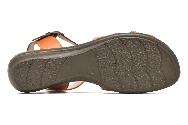Sandales et nu-pieds Sweet Zoumba Orange vue haut