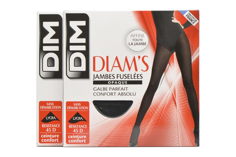 Collant Diam's Jambes fuselées opaque satiné Pack de 2 0HZ NOIR