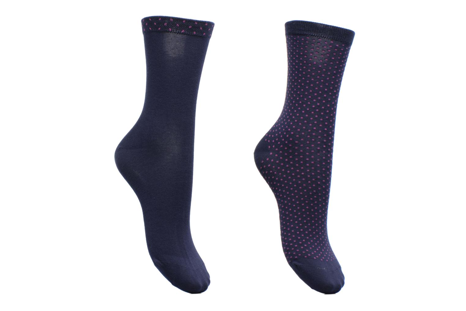 Socks & tights Dim Chaussettes Plumetis Pack de 2 Blue detailed view/ Pair view