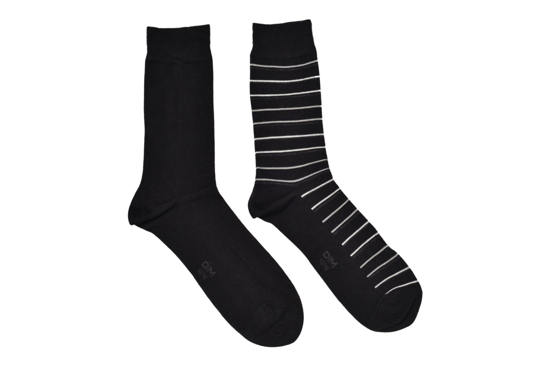 Chaussettes et collants Dim Chaussettes Rayures fines Pack de 2 Noir vue détail/paire