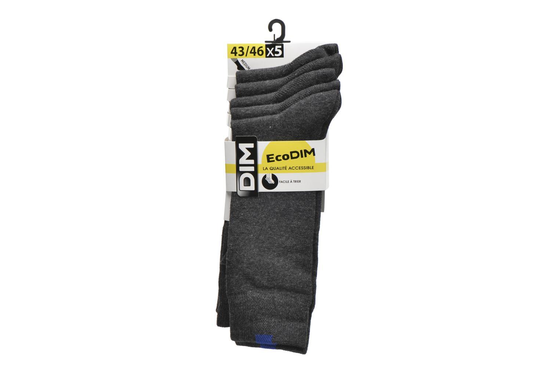 Chaussettes et collants Dim Chaussettes EcoDimM Pack de 5 Homme Gris vue derrière