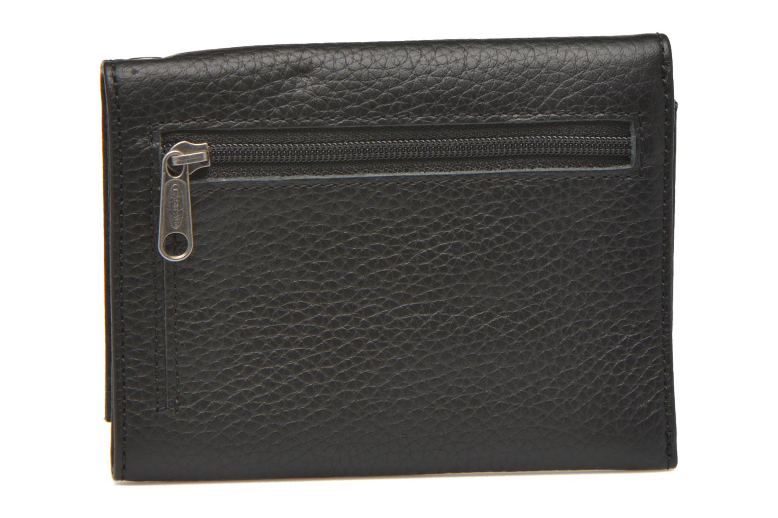 CREW Portefeuille cuir Black leather