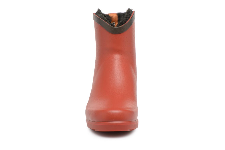 Bottines et boots Aigle Ms Jul Bot Fur Rouge vue portées chaussures