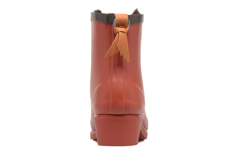 Botines  Aigle Ms Jul Bot Fur Rojo vista lateral derecha