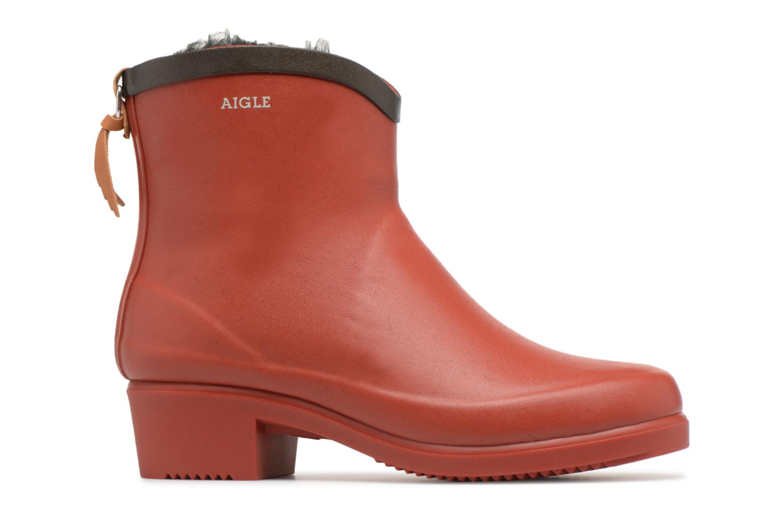 Ankle boots Aigle Ms Jul Bot Fur Red back view