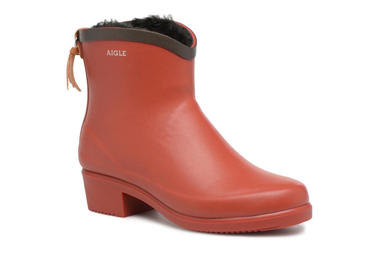 Bottines et boots Aigle Ms Jul Bot Fur Rouge vue détail/paire