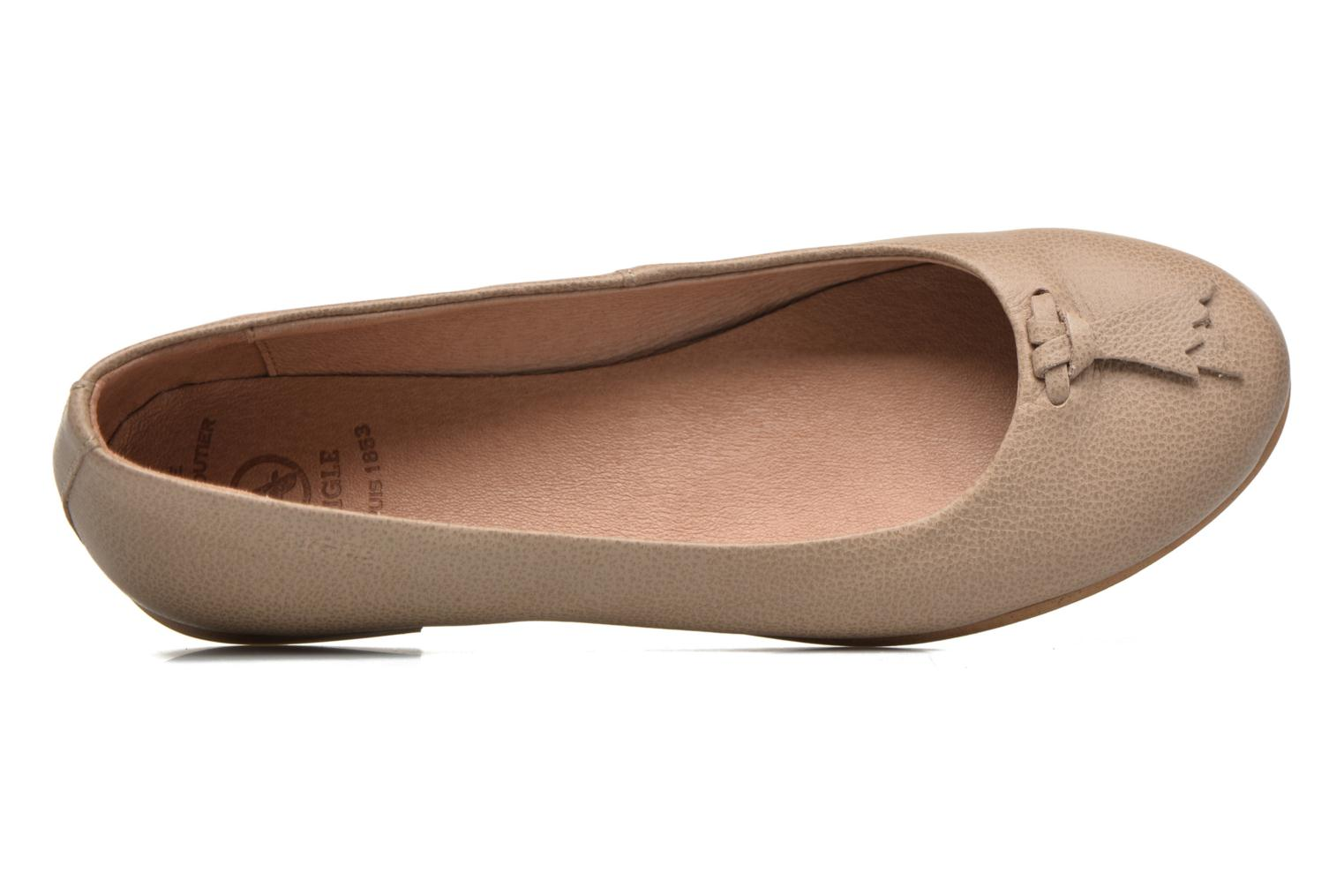 Ballet pumps Aigle Bostford Beige view from the left