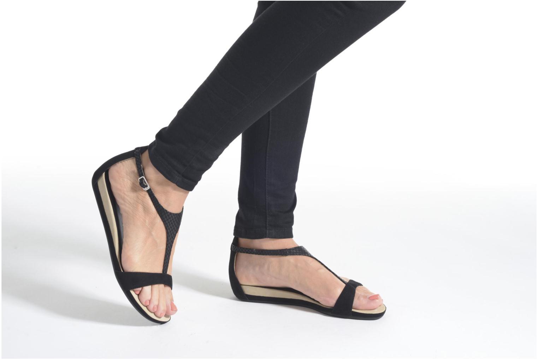 Sandales et nu-pieds Unisa Asunta Noir vue bas / vue portée sac