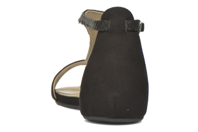 Sandales et nu-pieds Unisa Asunta Noir vue droite