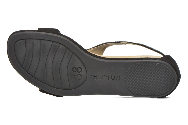 Sandales et nu-pieds Unisa Asunta Noir vue haut
