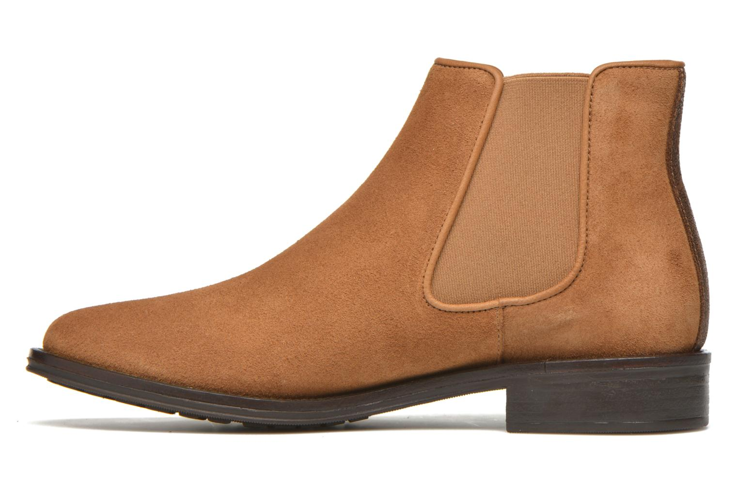 Ankle boots Schmoove Woman Newton chelsea suede Brown front view