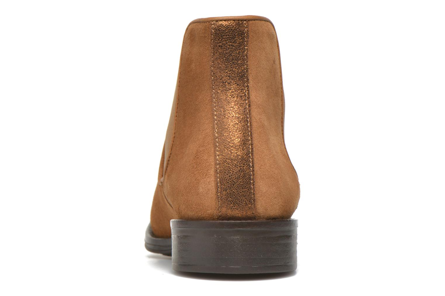 Ankle boots Schmoove Woman Newton chelsea suede Brown view from the right
