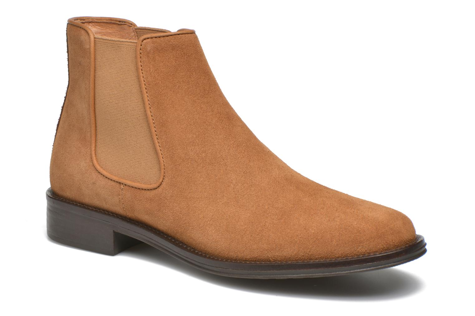 Ankle boots Schmoove Woman Newton chelsea suede Brown detailed view/ Pair view
