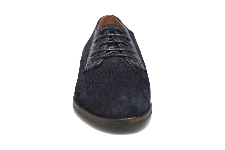 Chaussures à lacets Schmoove Woman Galaxy kid suede Bleu vue portées chaussures