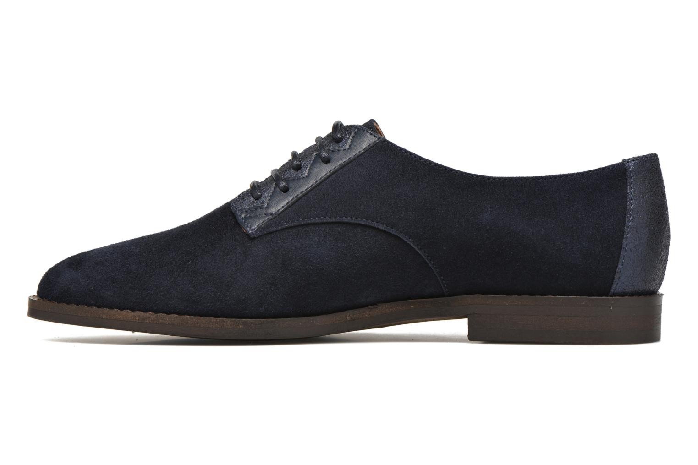 Chaussures à lacets Schmoove Woman Galaxy kid suede Bleu vue face