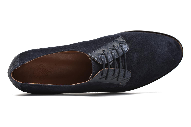 Chaussures à lacets Schmoove Woman Galaxy kid suede Bleu vue gauche