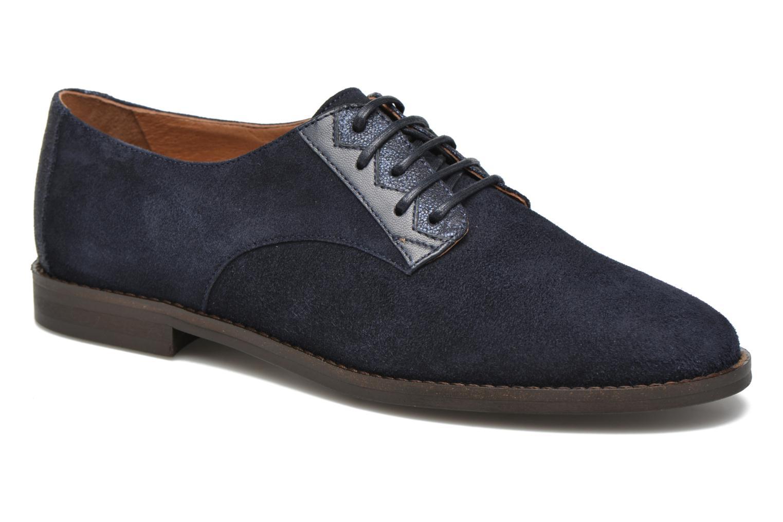Chaussures à lacets Schmoove Woman Galaxy kid suede Bleu vue détail/paire