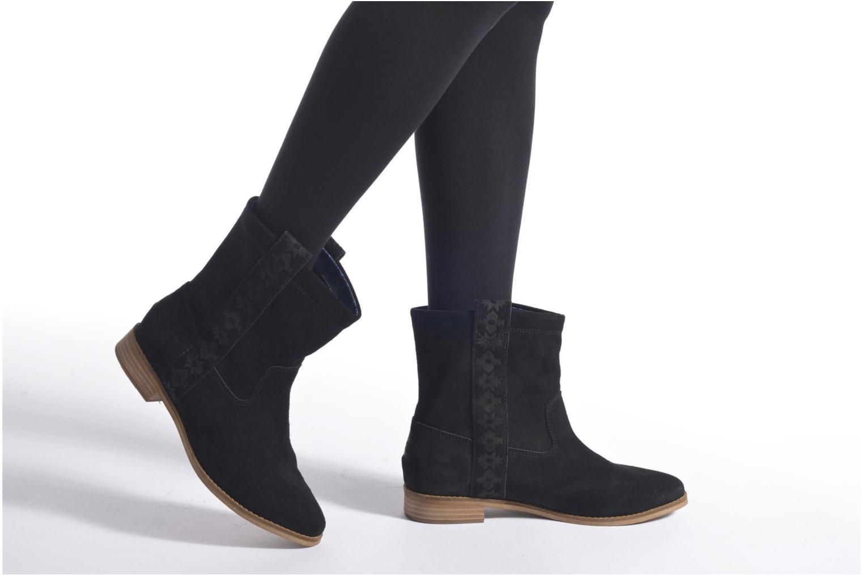 Bottines et boots TOMS Laurel pull-on boot Noir vue bas / vue portée sac