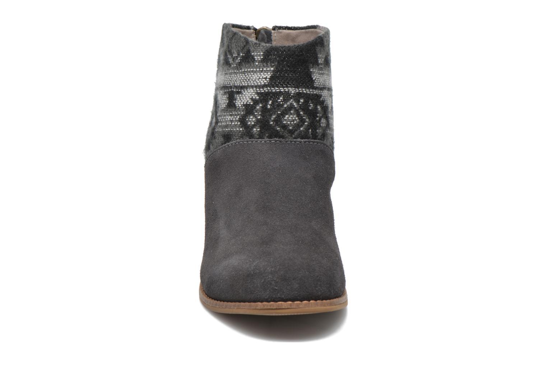 Leila bootie Grey Suede Tribal