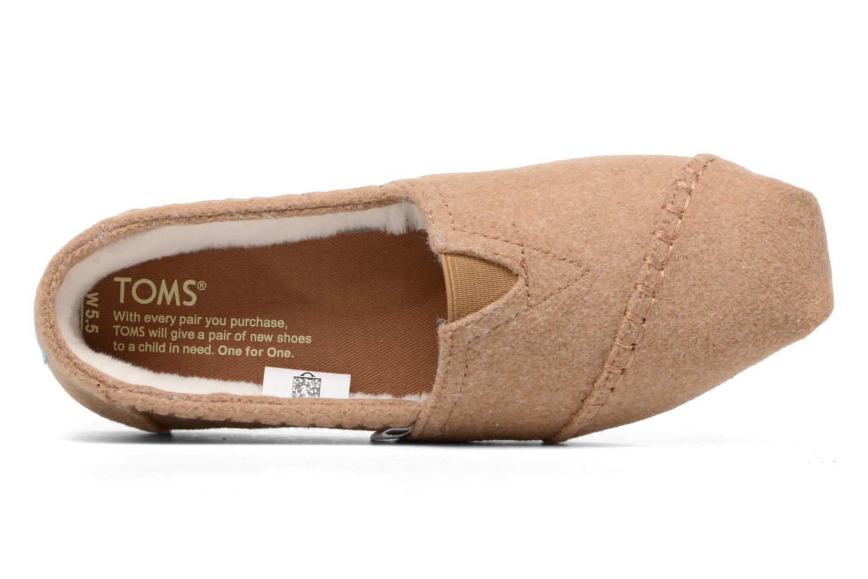 Mocassins TOMS Seasonal classics W Marron vue gauche