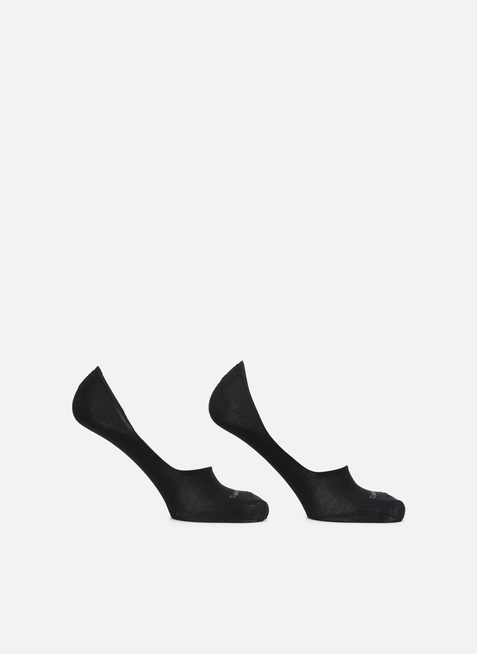 Lot de deux paires de Chaussettes Invisibles Unies - Black