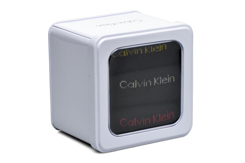 Chaussettes et collants Calvin Klein Boite cadeau métal Lot de 3 Noir vue derrière