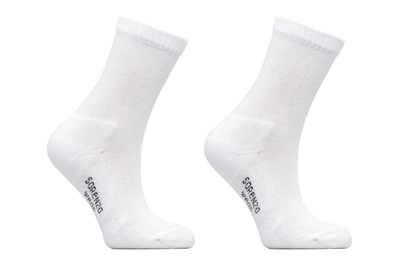 Chaussettes sport hautes Pack de 2 enfant Blanc