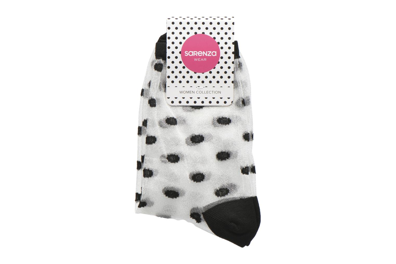 Socks & tights Sarenza Wear Chaussettes transparente Femme Black back view