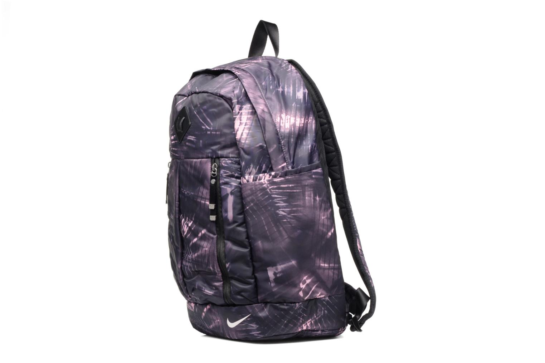 Zaini Nike Auralux backpack Sac à dos Viola modello indossato