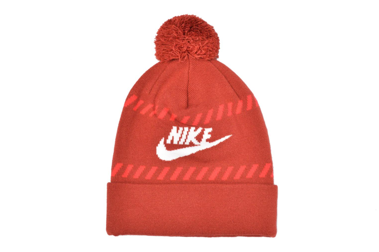 Divers Nike Futura Pom Beanie-Red Bonnet Rood detail