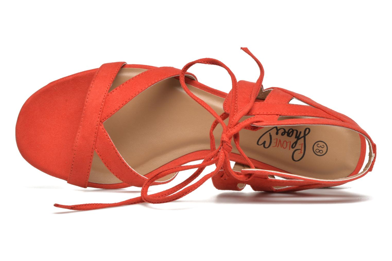 Sandalen I Love Shoes FELICE rot ansicht von links