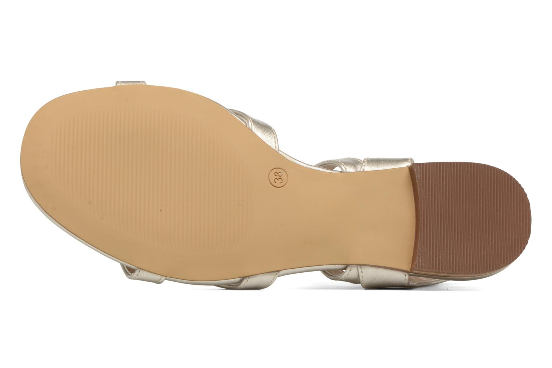 Sandales et nu-pieds I Love Shoes FELICE Or et bronze vue haut