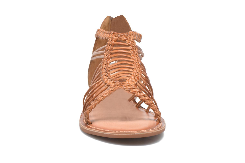 Sandales et nu-pieds I Love Shoes KEMIA Leather Marron vue portées chaussures