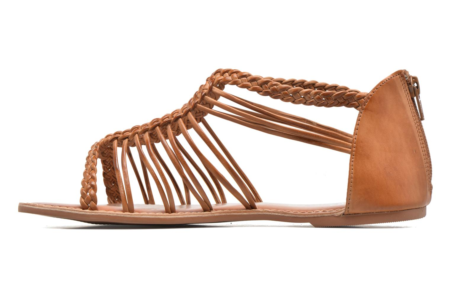 Sandals I Love Shoes KEMIA Leather Brown front view