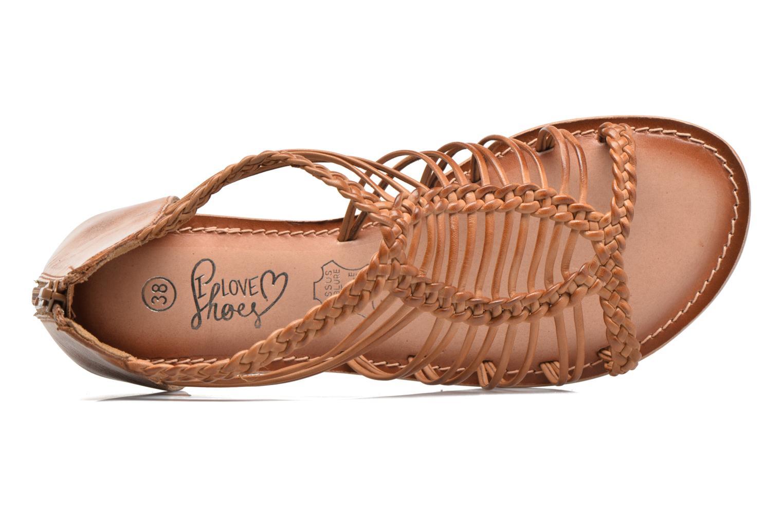 Sandalen I Love Shoes KEMIA Leather Bruin links