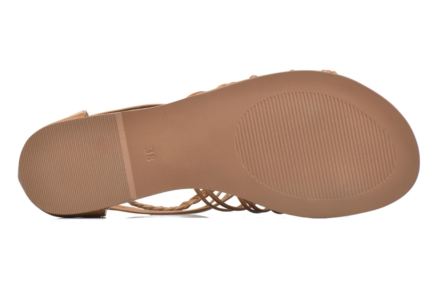 Sandals I Love Shoes KEMIA Leather Brown view from above