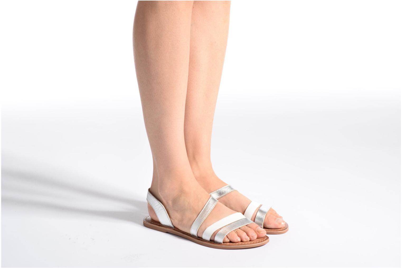 Sandales et nu-pieds I Love Shoes KEUNI Leather Or et bronze vue bas / vue portée sac