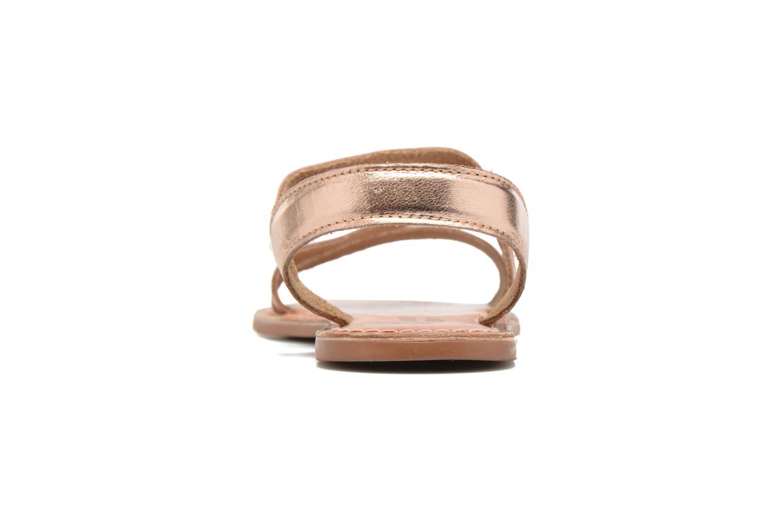 Sandales et nu-pieds I Love Shoes KEUNI Leather Or et bronze vue droite