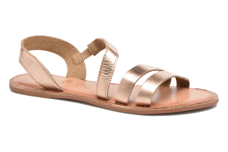 Sandales et nu-pieds I Love Shoes KEUNI Leather Or et bronze vue détail/paire