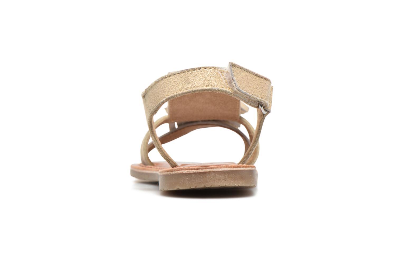 Sandales et nu-pieds I Love Shoes KEFRAN Leather Or et bronze vue droite