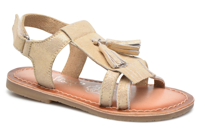 Sandales et nu-pieds I Love Shoes KEFRAN Leather Or et bronze vue détail/paire
