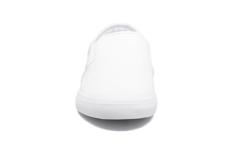 Baskets Lacoste Gazon Bl 1 Blanc vue portées chaussures