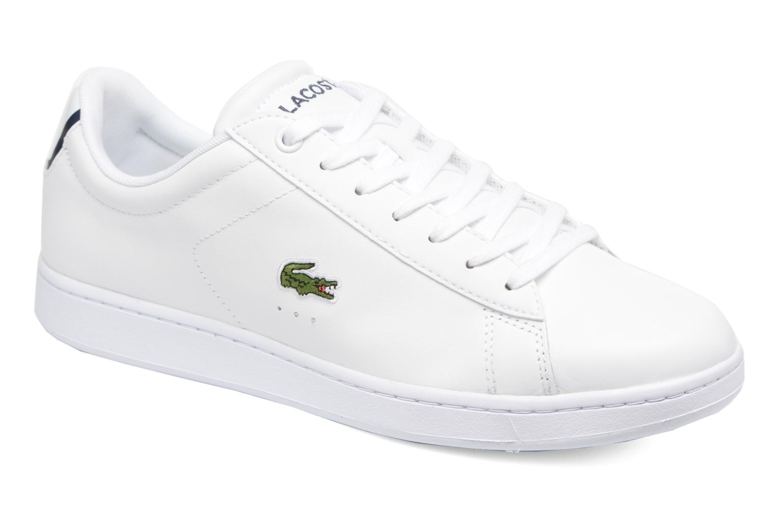 Trainers Lacoste Carnaby Evo BL 1 White detailed view/ Pair view