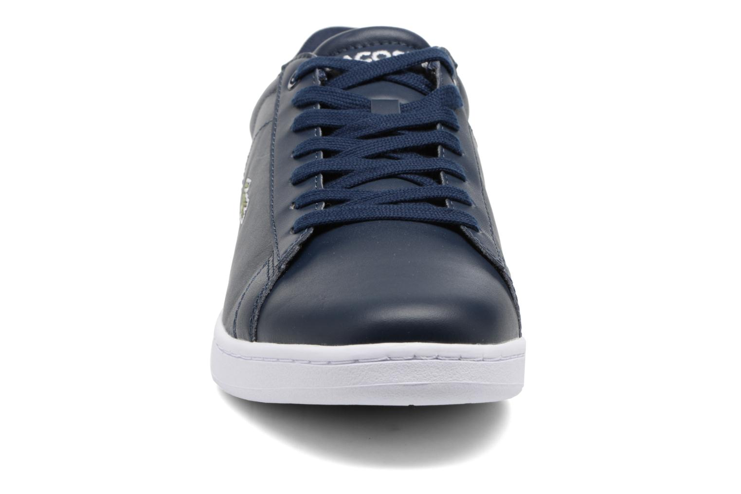 Baskets Lacoste Carnaby Evo BL 1 Bleu vue portées chaussures