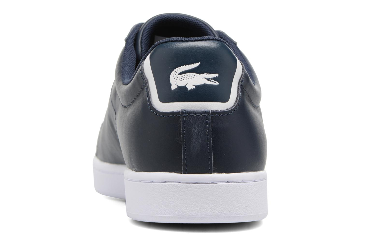Baskets Lacoste Carnaby Evo BL 1 Bleu vue droite