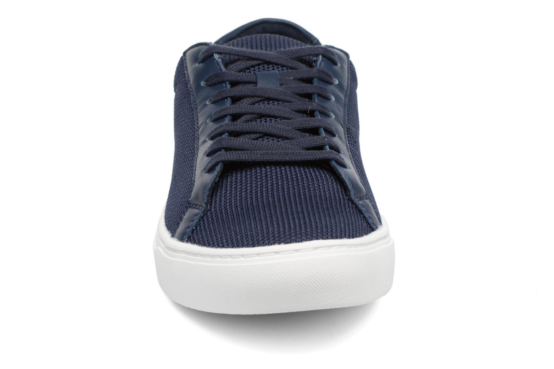 Baskets Lacoste L.12.12 BL 2 Bleu vue portées chaussures